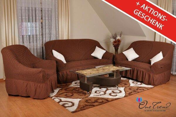 sofa berwurf 3er 2er 1er set in kassel polster sessel. Black Bedroom Furniture Sets. Home Design Ideas