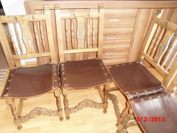 verkaufe 6 spanische st hle sind schon sehr alt habe sie selbst vor 23 jahren gebraucht. Black Bedroom Furniture Sets. Home Design Ideas