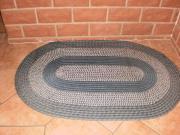 Teppich blau oval