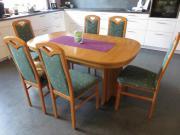 Tisch Erle oval,