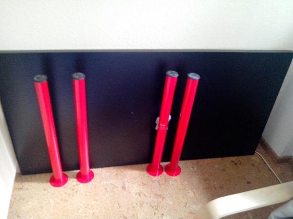 tisch linnmon adils ikea schwarzbraun rot f r selbstabholer in karlsruhe ikea m bel kaufen. Black Bedroom Furniture Sets. Home Design Ideas