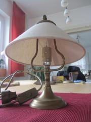 Tisch-/ Nachttischlampe Messing