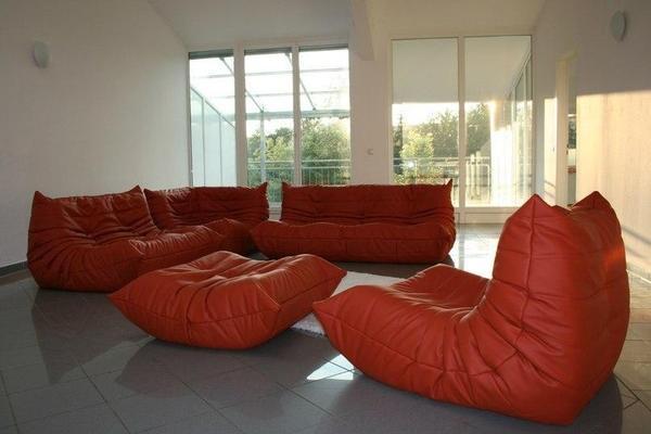 togo ligne roset sofa sessel hocker garnitur in mainz. Black Bedroom Furniture Sets. Home Design Ideas