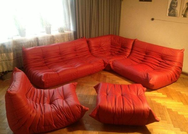 togo ligne roset original in echtleder rot in leinfelden echterdingen polster sessel couch. Black Bedroom Furniture Sets. Home Design Ideas