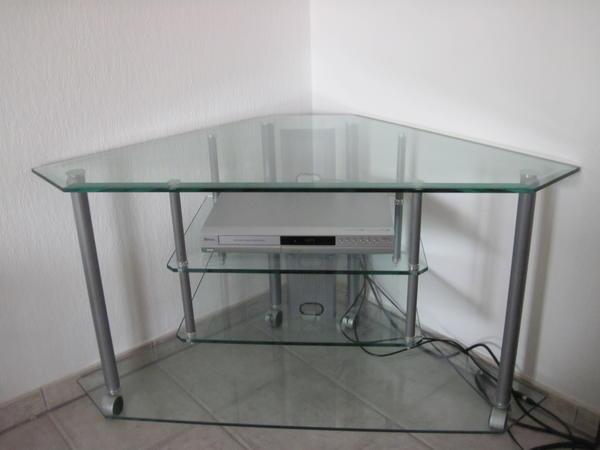 tv eck phonowagen aus massivem glas in bad wimpfen phono tv videom bel kaufen und. Black Bedroom Furniture Sets. Home Design Ideas