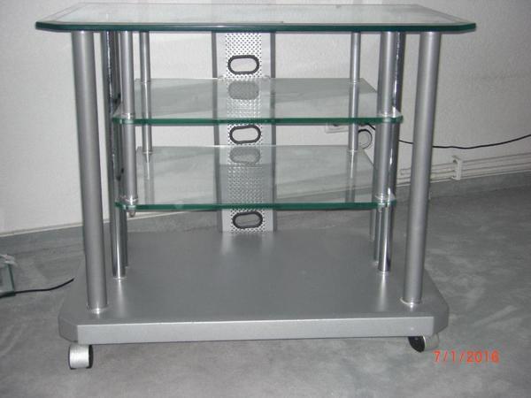tv phonoregal aus glas fernsehschrank regal shabby. Black Bedroom Furniture Sets. Home Design Ideas