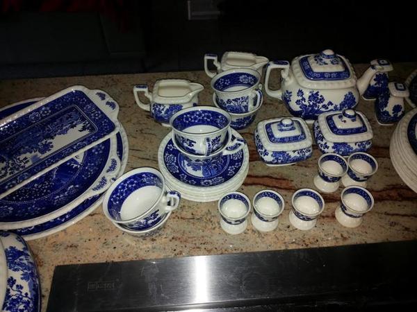 Villeroy & Boch Tafel- und Kaffeeservice Rusticana blau 9 ...