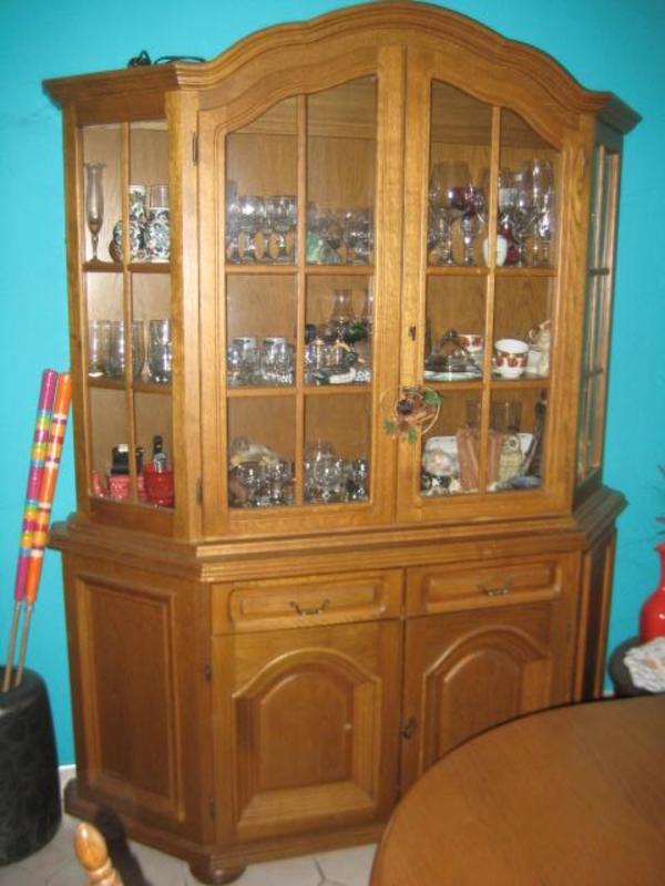 vitrine eiche rustikal gebraucht kaufen nur 3 st bis 75 g nstiger. Black Bedroom Furniture Sets. Home Design Ideas