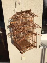 Vogelkäfig Bambus mit