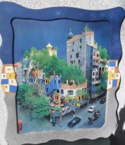 Wandbild Hundertwasser mit