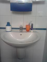 Waschbecken, weiß