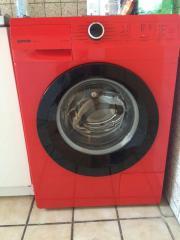 Waschmaschine rot von
