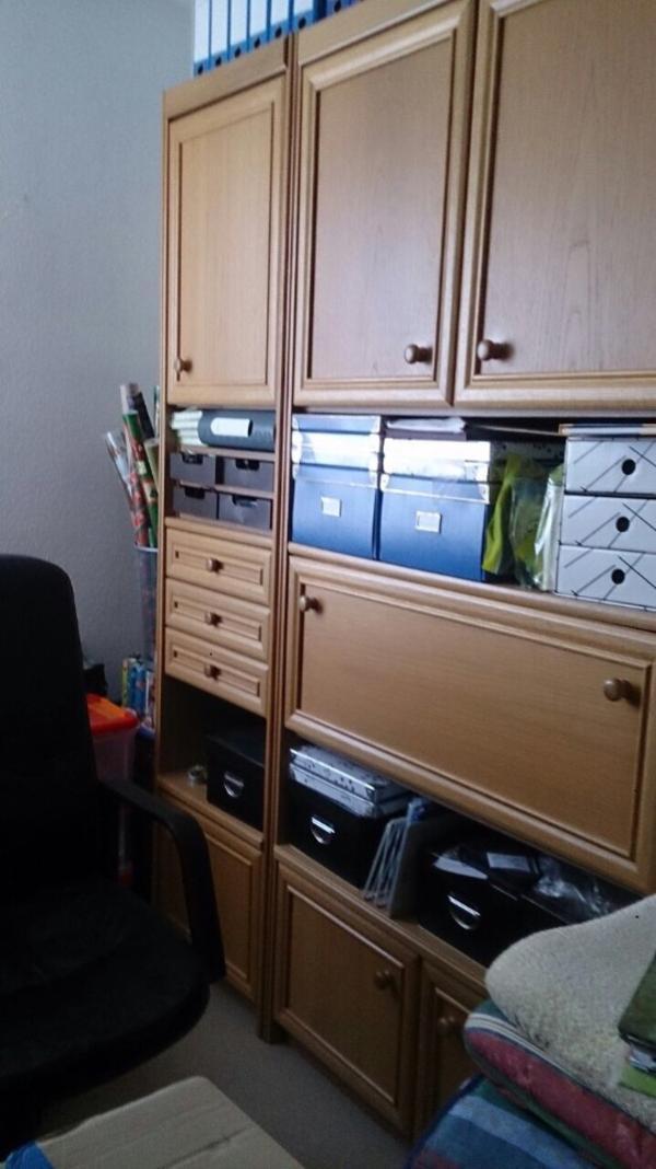 wohnwand eiche neu und gebraucht kaufen bei. Black Bedroom Furniture Sets. Home Design Ideas