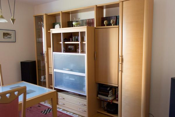 Wohnzimmerwand wohnzimmerschrank buche sehr gut - Wohnzimmerschrank buche ...