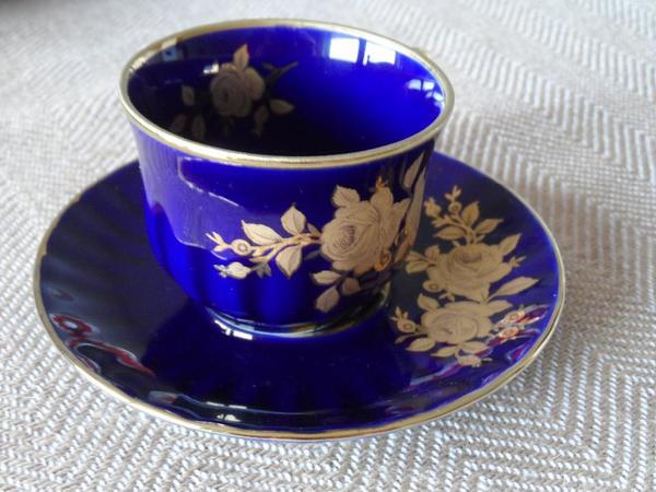 wunsiedel bavaria kaffeetasse 3 teile echt kobalt 24. Black Bedroom Furniture Sets. Home Design Ideas