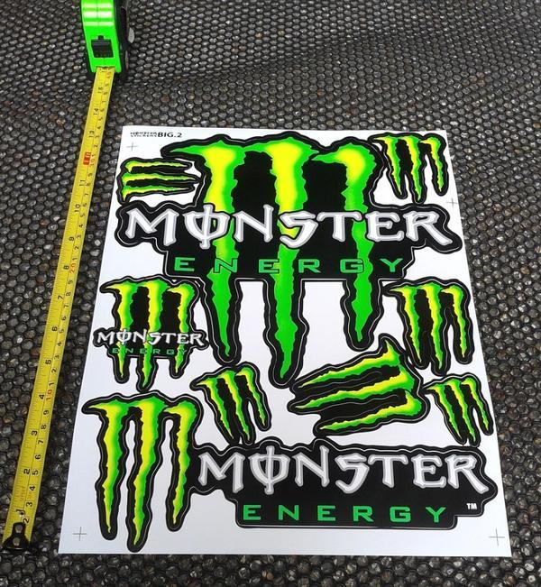 xxl monster energy logo aufkleber sticker 27cm x 36cm rc. Black Bedroom Furniture Sets. Home Design Ideas