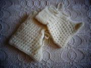 1 Paar Bettschühchen Babyschühchen naturfarben