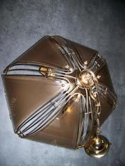 1 Wohn-Eßzimmerlampe aus den 80