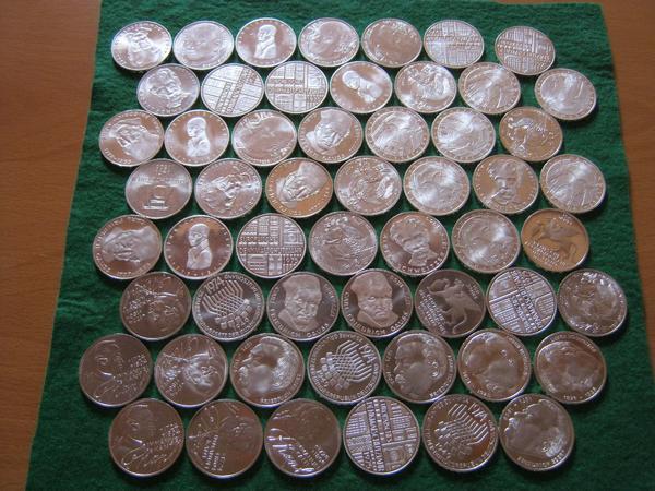 14 X 5 Dm Silber Gedenkmünzen 1971 1979 Einzelne Münzen Möglich In