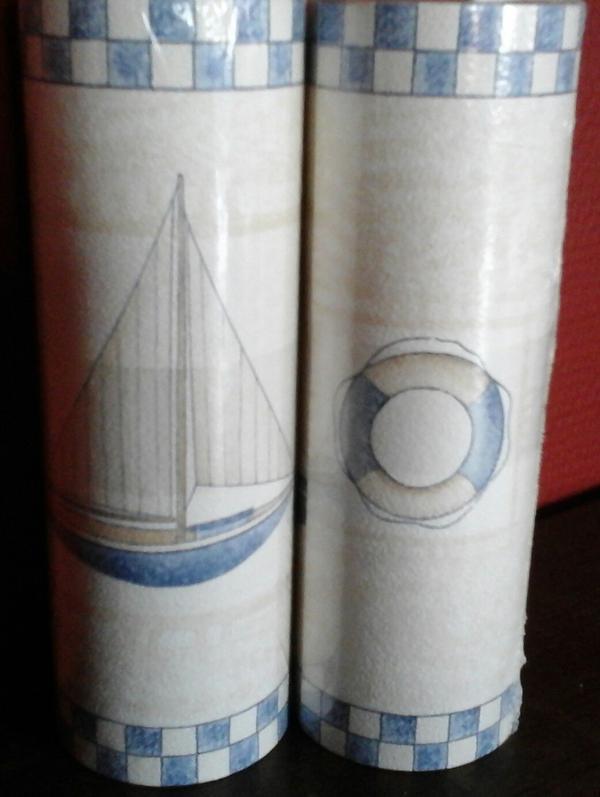 Maritime Farben 2 rollen maritime selbstklebende bordüre je 5 m x 17 5 cm ovp in