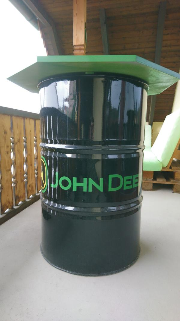 200 liter lfass tonne stehtisch john deere in. Black Bedroom Furniture Sets. Home Design Ideas