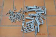24 Press-Gitterrosthalter Stahl neu feuerverzinkt
