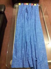 2x Schal Übergardine blau mit