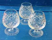 3 Bleikristall Cocgnacgläser