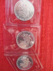 3 Silbermünzen 10 DM Olympische