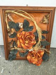 3D Wandbild 35x42cm Blumen Gemälde