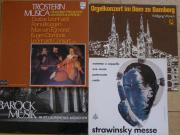 4 LP Strawinsky Messe Barock