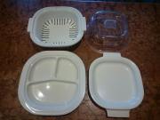 4 teiliges Geschirr für Mikrowelle