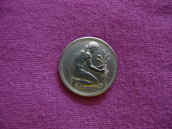 50 Pfennig 1950 G Bank Deutscher Länder Krottelbach Münzen