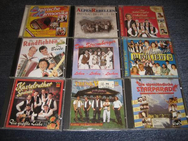 9 CD s mit Volksmusik Kastelruther