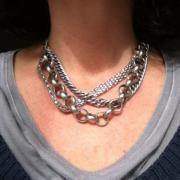 Akkesoir`, Silber Halskette,