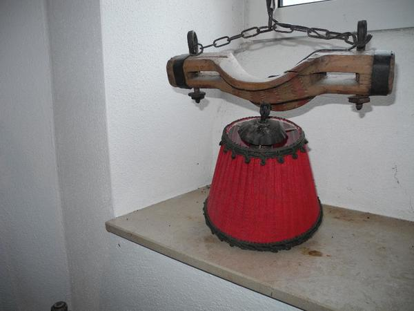 Alte Antike Handgeschnitztes Ochsen Joch Als Lampe In Bad Kreuznach