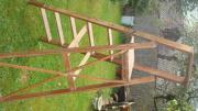 alte Holz-Klappleiter,