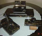 Altes Schreibtischgarnitur Marmor