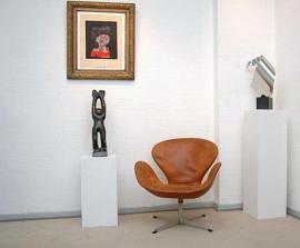 Polster, Sessel, Couch - Ankauf Fritz Hansen Swan Chair