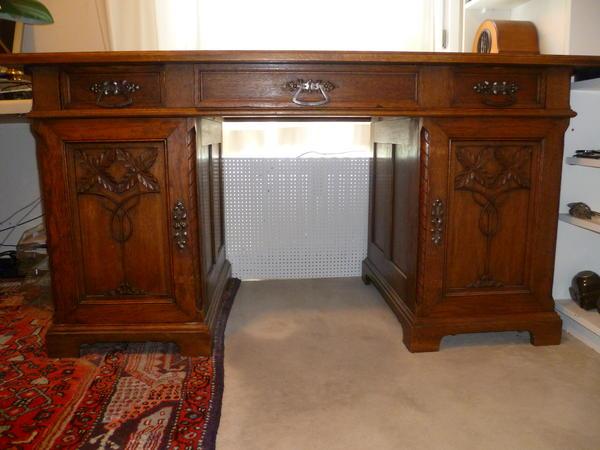 antike m bel nr 10 einmalig sch ner jugendstil schreibtisch ca 1915 20 in puchheim. Black Bedroom Furniture Sets. Home Design Ideas