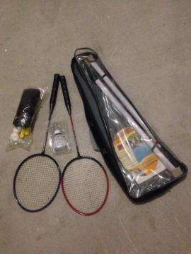 Tennis, Tischtennis, Squash, Badminton - Badminton Federball Sets 2 x