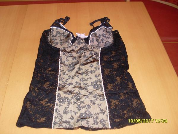 BH Hemd schwarz-braun mit Bügel von SIMONE Gr.75 D - NEUWARE gebraucht kaufen  94447 Plattling