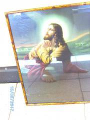 Bild gerahmt, Jesus