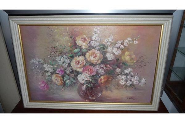 Blumen - Kunstdruckbild in hochwertigem Holzrahmen