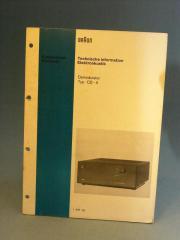 Braun CD4 Demodulator original Manual