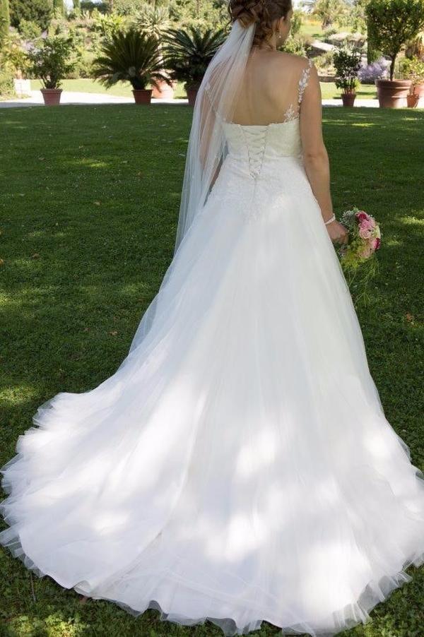 Brautkleid Hochzeit Gr.38 - Paket inkl. Unterrock, Schleier und ...