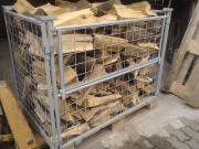 Brennholz Gitterbox