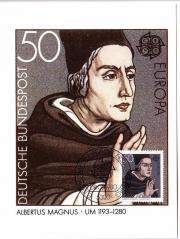 Briefmarken Maximumkarten Leibnitz Albertus Magnus In Neunkirchen