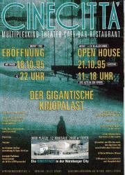 CineCitta Nürnberg Eröffnungsheft Oktober 1995