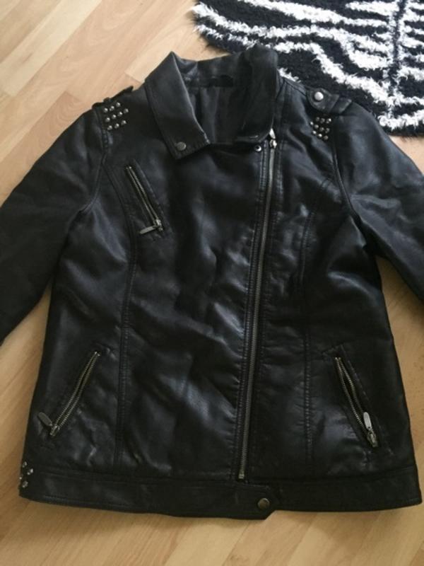 Damen Kleidung Leder Jacke 40